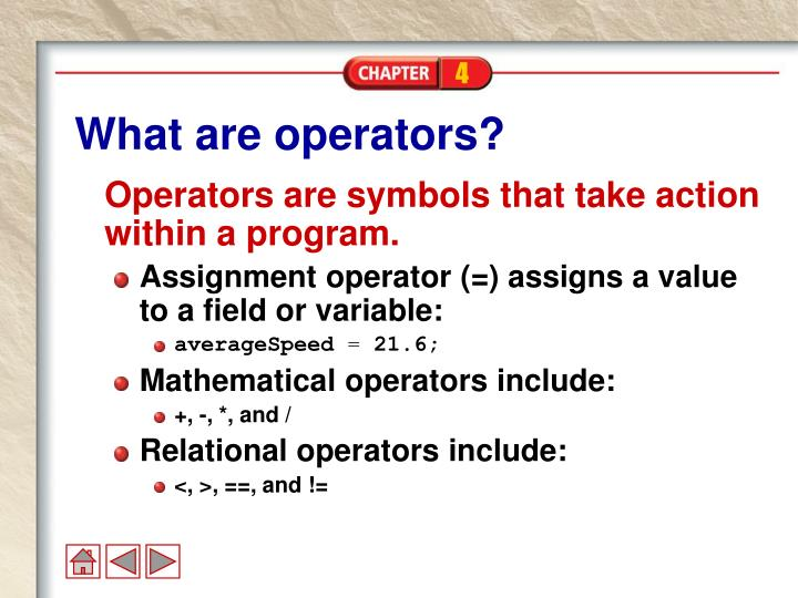 What are operators?
