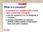 what is a constant