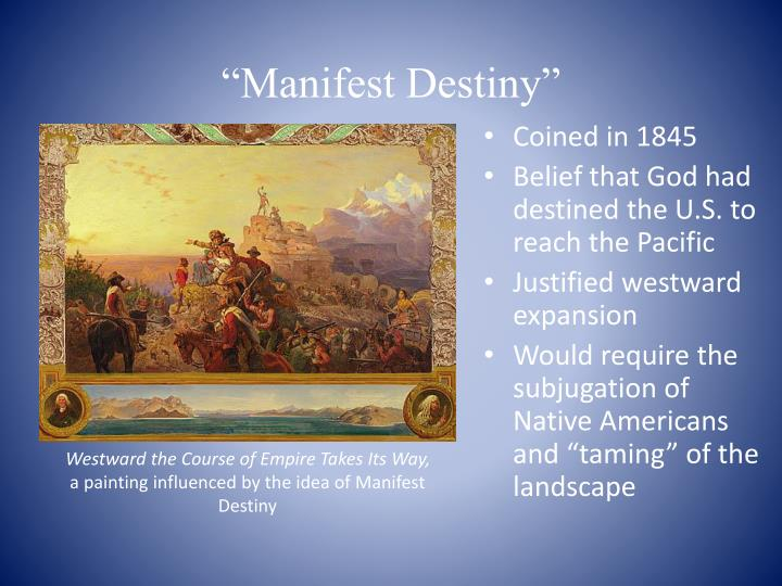 manifest destiny the subjugation of the No, i would not say it is another word for conquest conquest is the military subjugation of a rival force manifest destiny is more a flowery term to justify genocide.