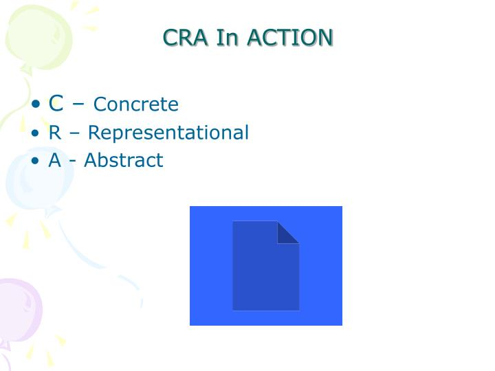 CRA In ACTION