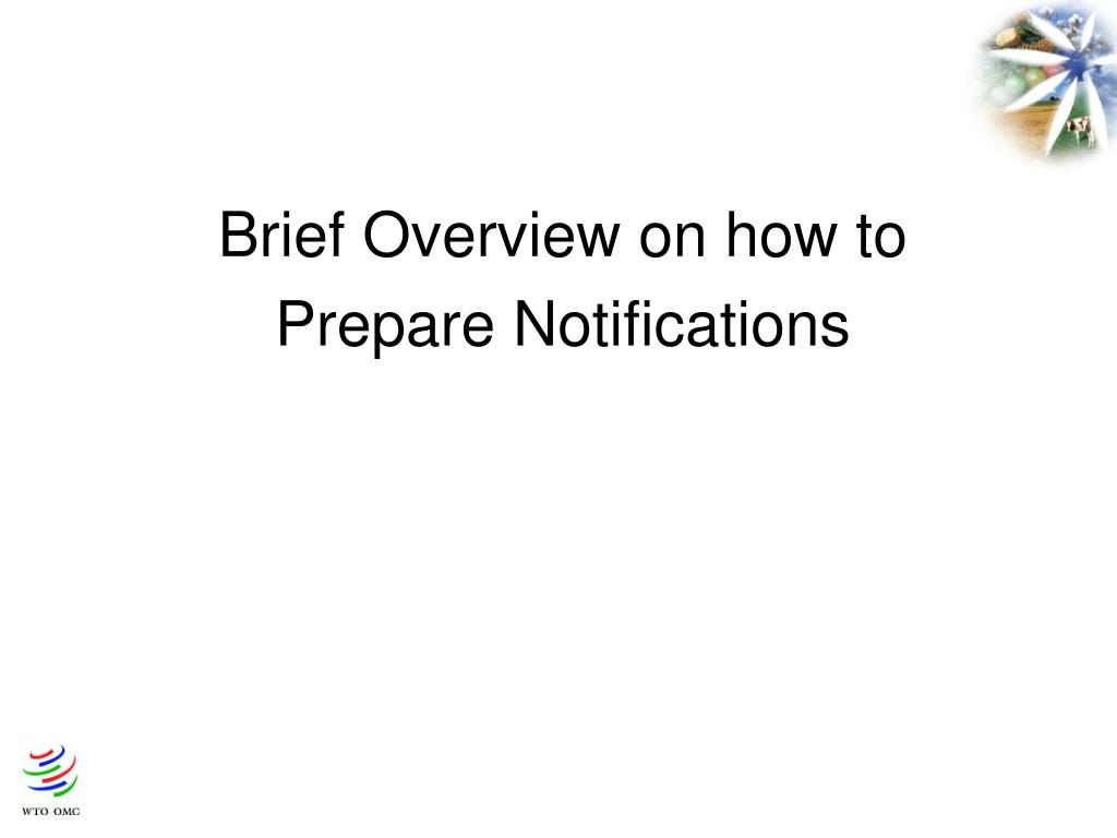 Brief Overview on how to