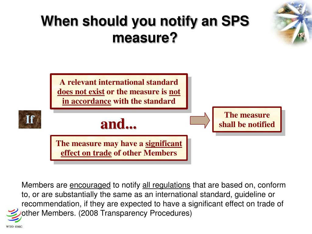 When should you notify an SPS measure?