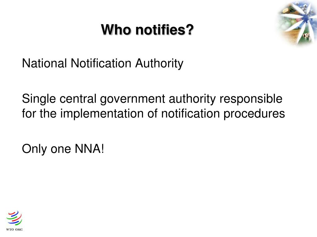 Who notifies?
