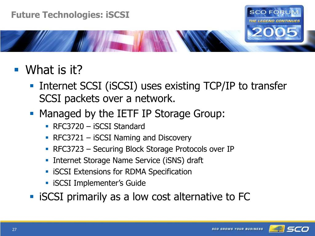 Future Technologies: iSCSI
