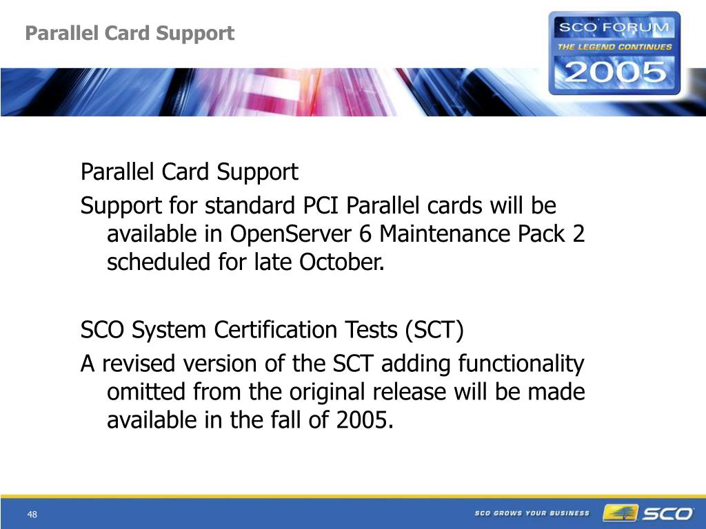 Parallel Card Support