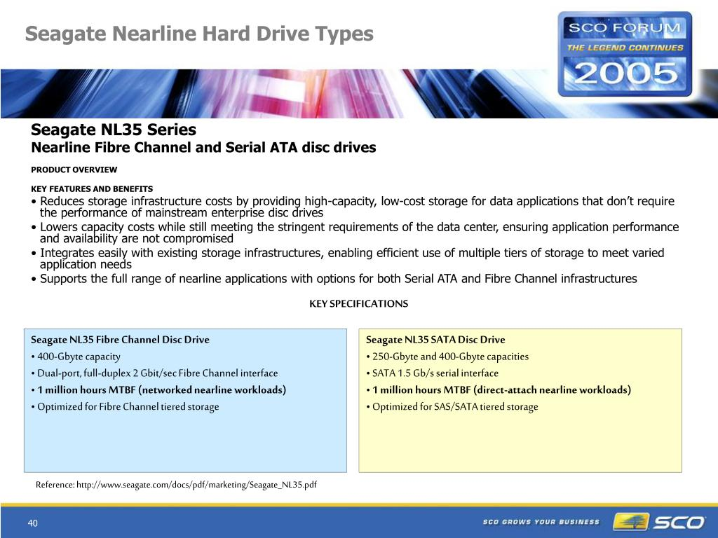 Seagate Nearline Hard Drive Types