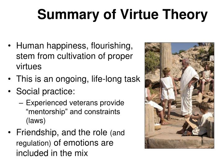 aristotle's theory of virtue and happiness Home » happiness & swb » eudaimonia: personal happiness according to the  greeks  perceived as any theory that places the personal happiness of an  individual and  happiness as eudaimonia: aristotle's virtue ethics.