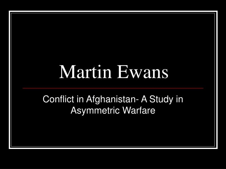 Martin Ewans