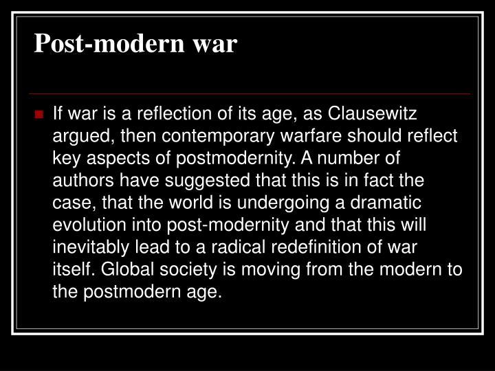 Post-modern war