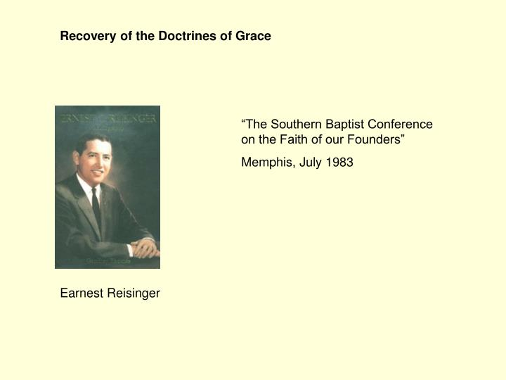 Recovery of the Doctrines of Grace