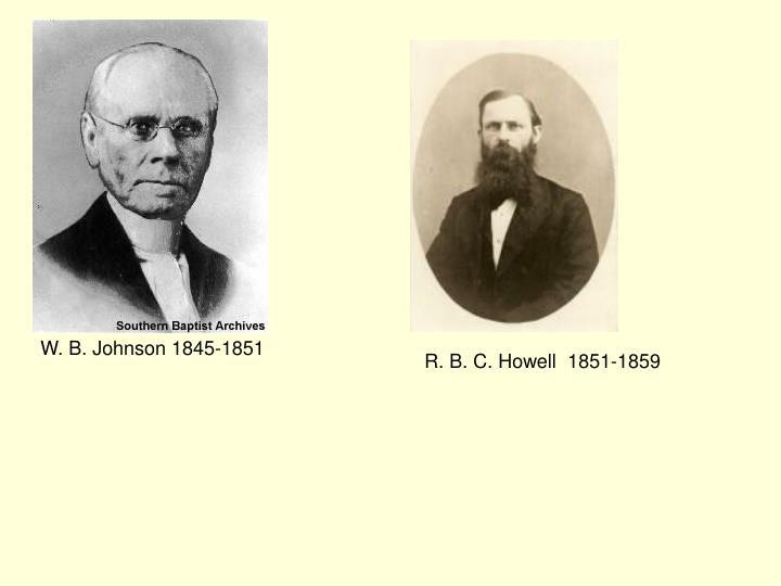 W. B. Johnson 1845-1851