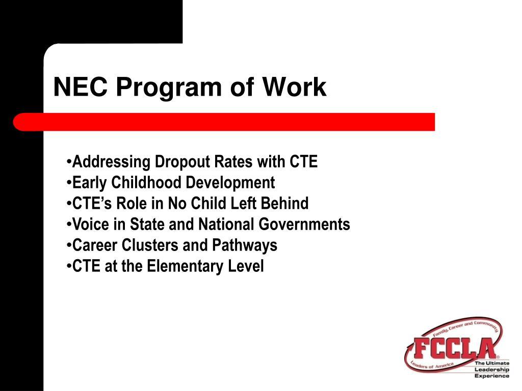 NEC Program of Work