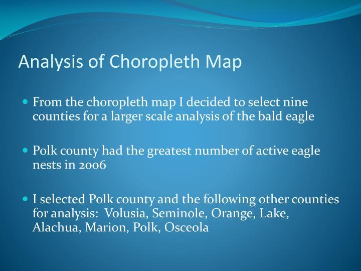 Analysis of Choropleth Map