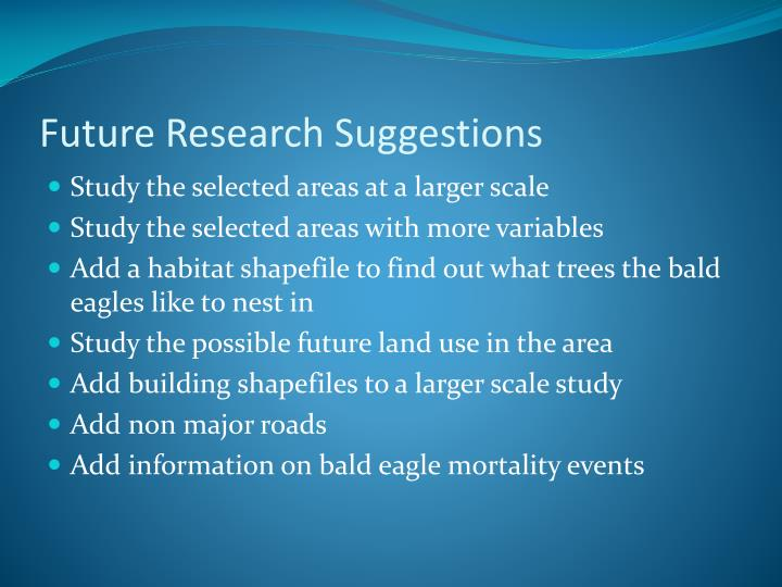 Future Research Suggestions