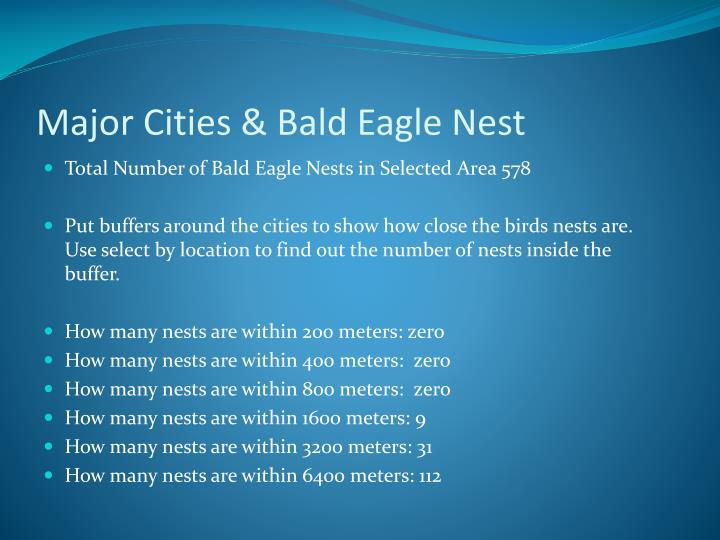 Major Cities & Bald Eagle Nest