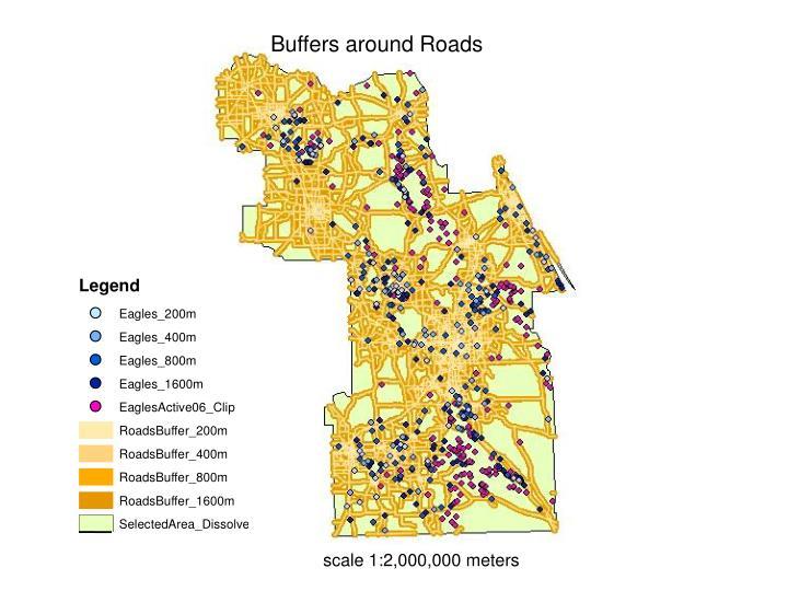 Buffers around Roads