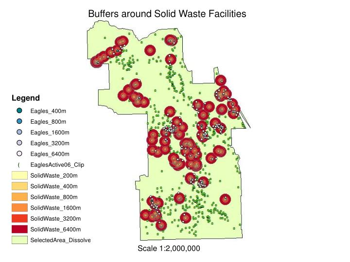 Buffers around Solid Waste Facilities