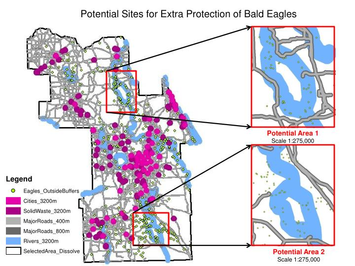 Potential Sites for Extra Protection of Bald Eagles