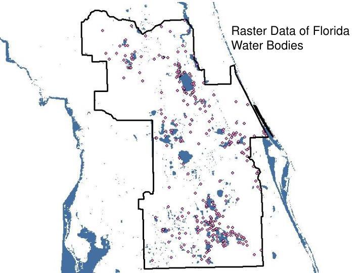 Raster Data of Florida Water Bodies