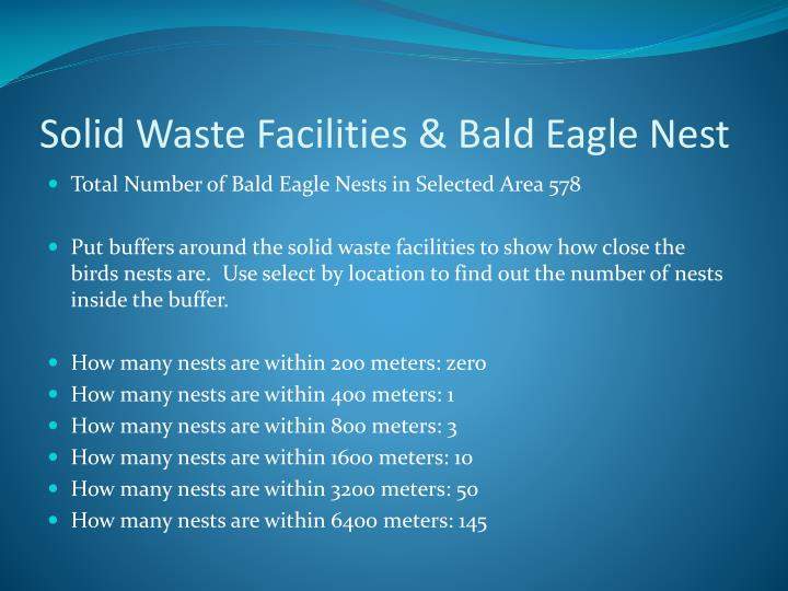 Solid Waste Facilities & Bald Eagle Nest