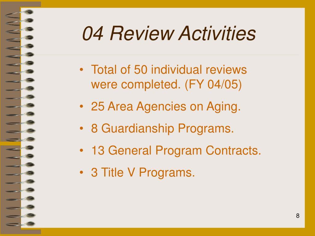 04 Review Activities
