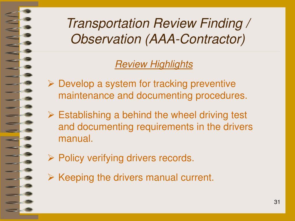 Transportation Review