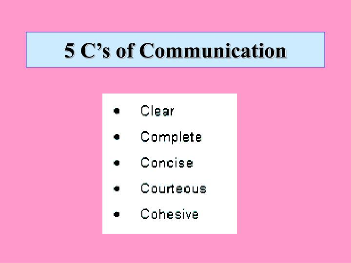 5 C's of Communication