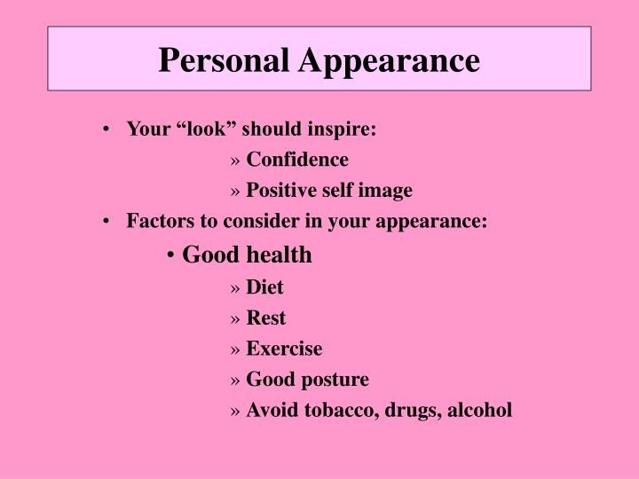 Personal Appearance