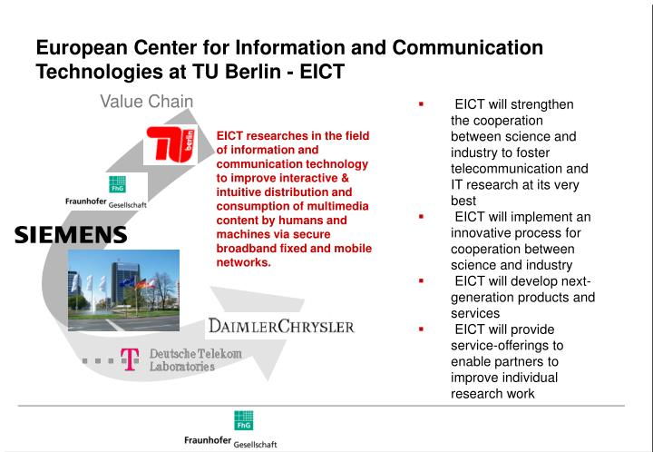 European Center for Information and Communication Technologies at TU Berlin - EICT