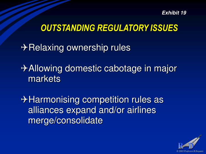 OUTSTANDING REGULATORY ISSUES