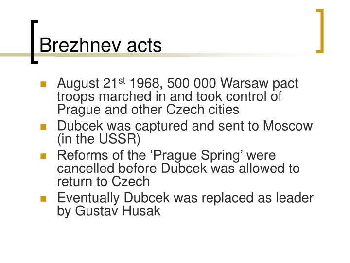 Brezhnev acts