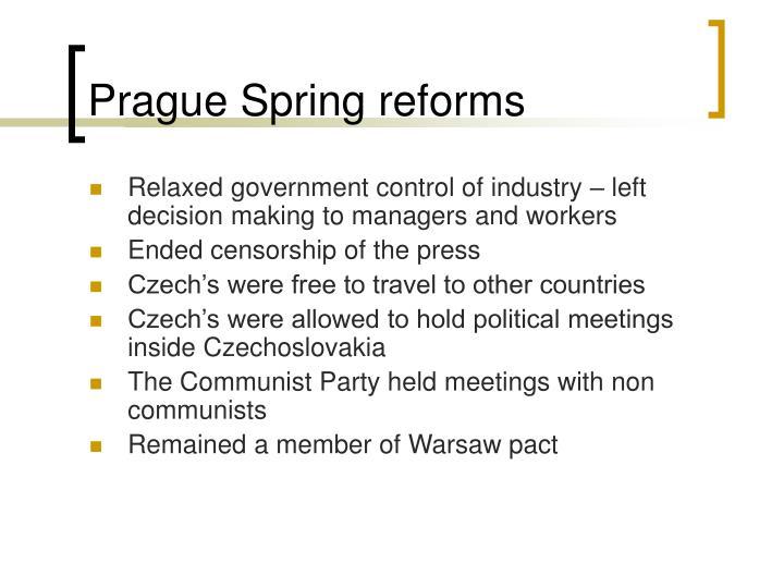 Prague Spring reforms