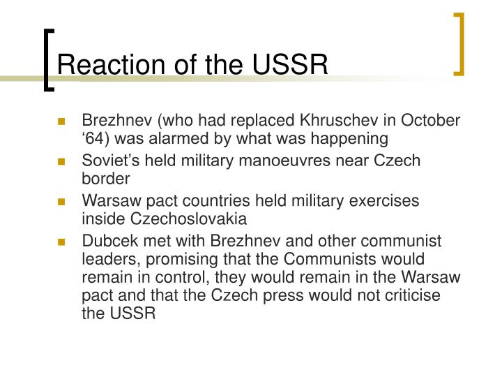 Reaction of the USSR