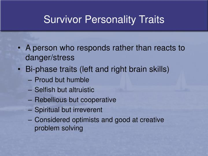 Survivor Personality Traits
