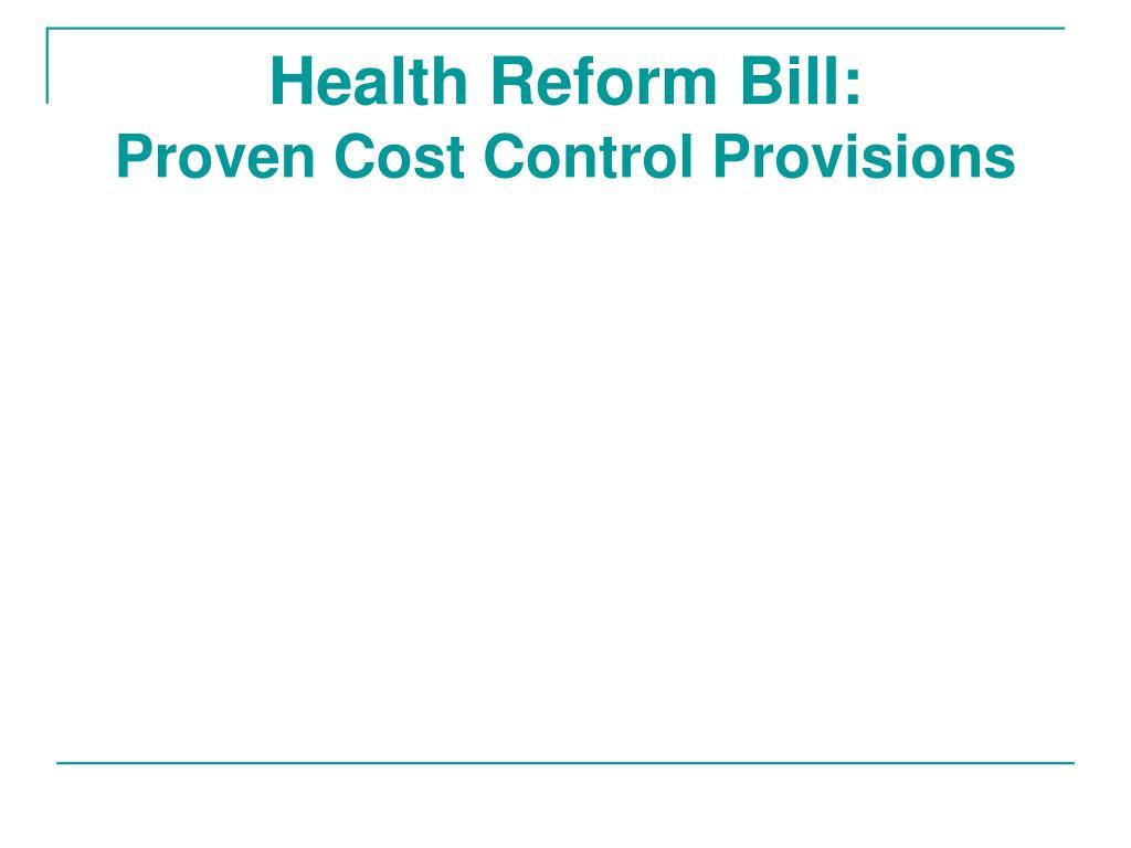 Health Reform Bill: