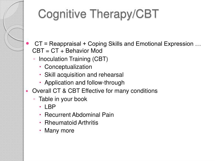 Cognitive Therapy/CBT