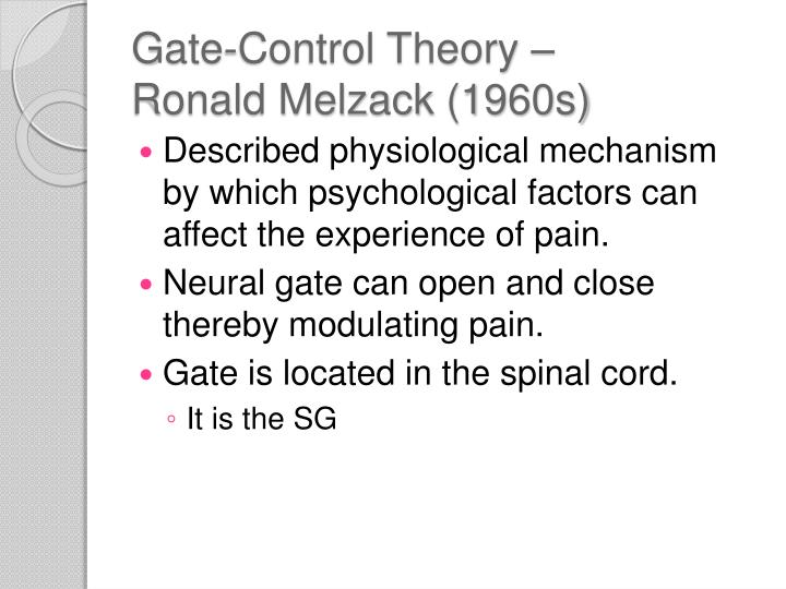 Gate-Control Theory –