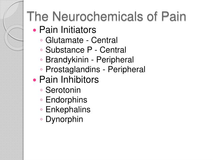 The Neurochemicals of Pain