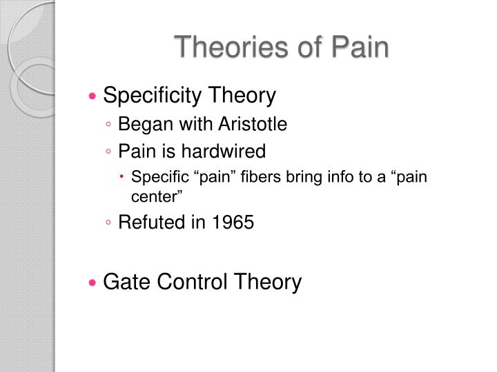 Theories of Pain