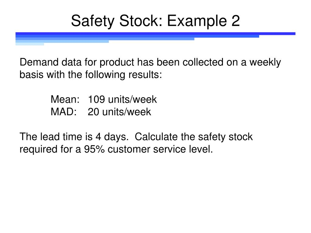 Safety Stock: Example 2