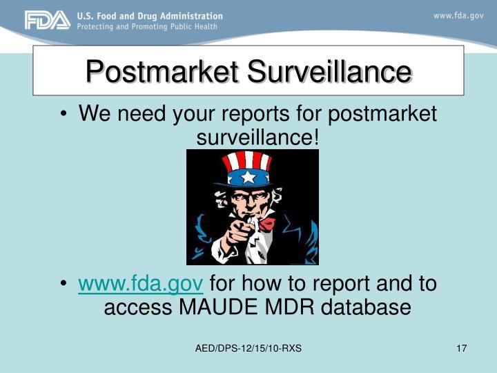 Postmarket Surveillance