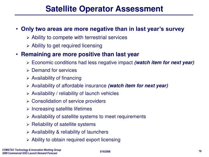 Satellite Operator Assessment