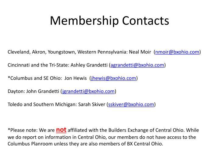Membership Contacts
