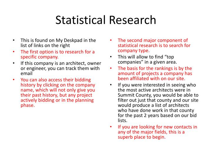 Statistical Research