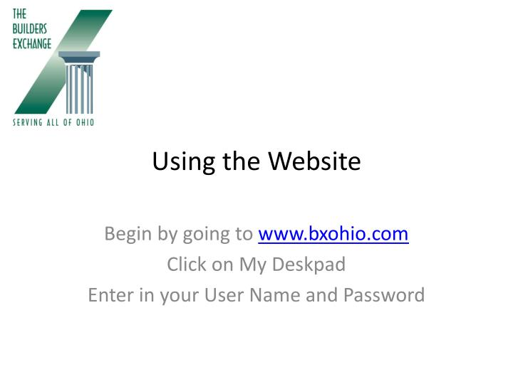 Using the Website