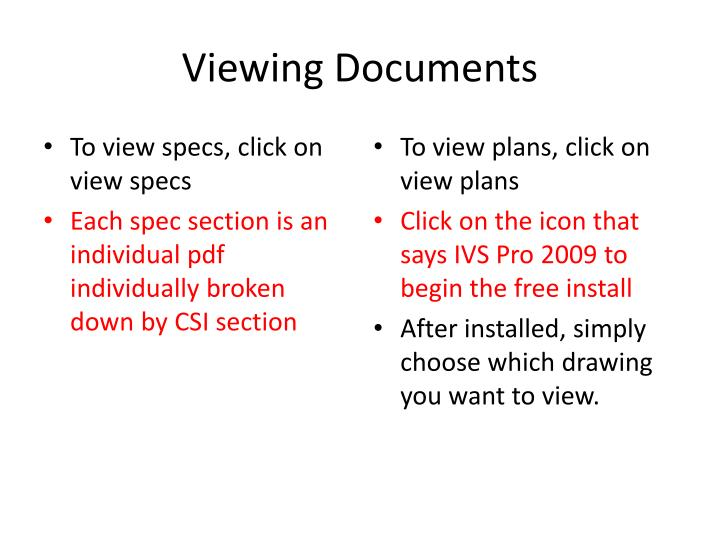 Viewing Documents