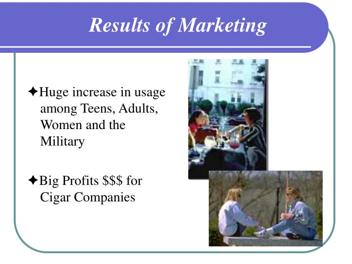 Results of marketing