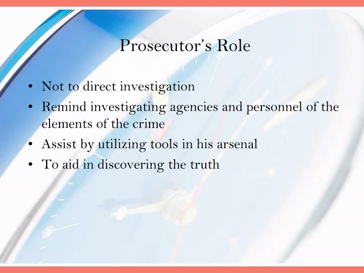 Prosecutor's Role