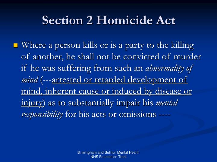 Section 2 Homicide Act