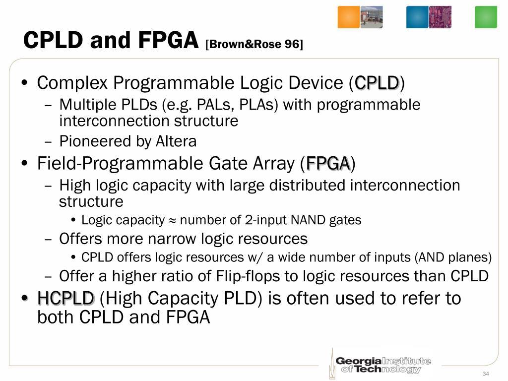 CPLD and FPGA